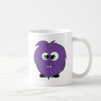 Cute Purple Monster Basic White Mug