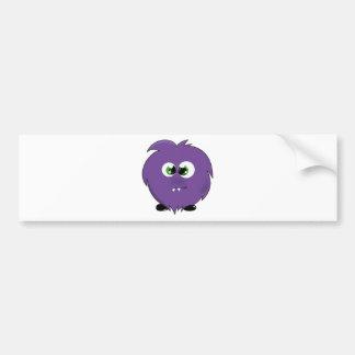 Cute Purple Monster Bumper Sticker