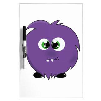 Cute Purple Monster Dry-Erase Whiteboard