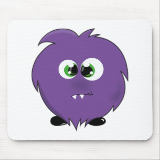 Cute Purple Monster Mouse Pads