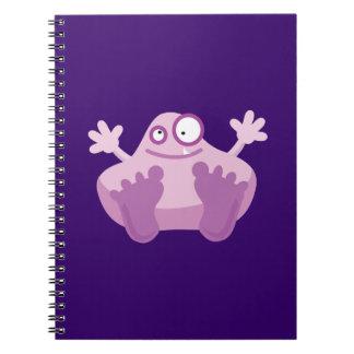 Cute Purple Monster Spiral Note Book
