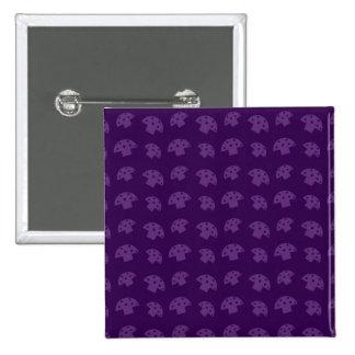 Cute purple mushroom pattern 15 cm square badge