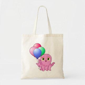 Cute Purple Octopus Budget Tote Bag