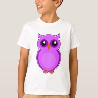 Cute purple owl animation illustration t shirt
