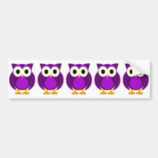 Cute Purple Owl Bumper Sticker