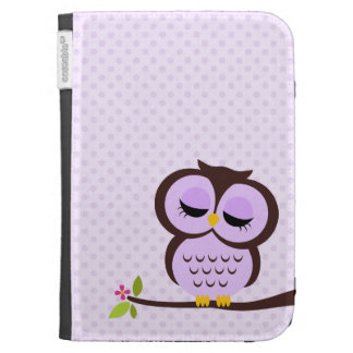 Cute Purple Owl Case For Kindle