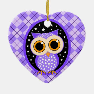 cute purple owl christmas ornament