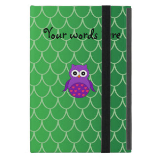 Cute purple owl cover for iPad mini