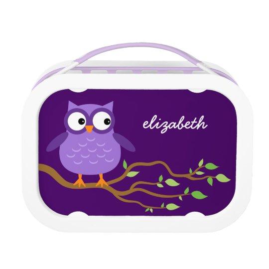 Cute Purple Owl Custom Name For Her A43A
