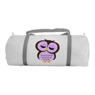 Cute Purple Owl Gym Duffel Bag