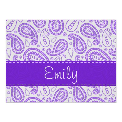 Cute Purple Paisley Poster