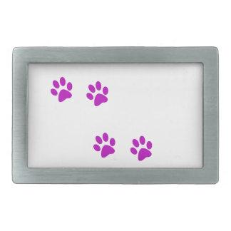 cute purple pawprints belt buckles