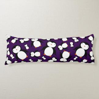 Cute purple penguin pattern body cushion