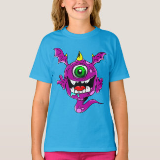 Cute Purple People Eater Monster T-Shirt