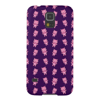 Cute purple pig pattern galaxy s5 cover
