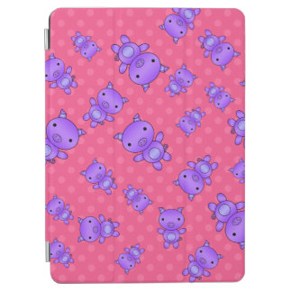 Cute purple pig pink polka dots iPad air cover