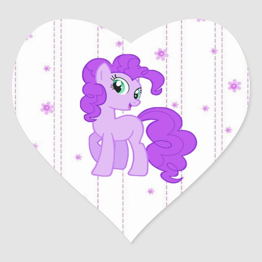 Cute Purple Pony Stickers for Little Girls