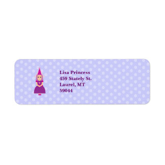 Cute Purple Princess Return Address Label