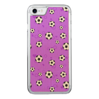 Cute Purple Soccer Star Carved iPhone 8/7 Case
