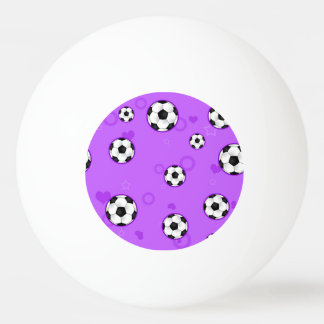 Cute Purple Soccer Star Ping Pong Ball