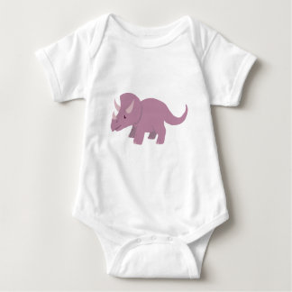 Cute Purple Triceratops (baby Torosaurus) Baby Bodysuit