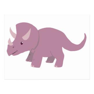 Cute Purple Triceratops (baby Torosaurus) Postcard