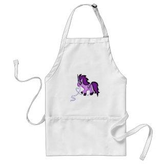 Cute purple unicorn with anchor standard apron
