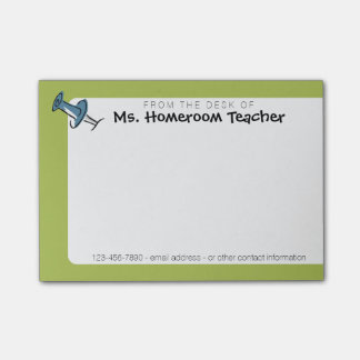 Cute Push Pin From the Desk Of Homeroom Teacher Post-it Notes