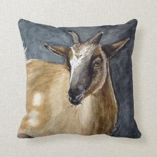 Cute Pygmy Goat Watercolor Artwork Cushion
