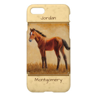 Cute Quarter Horse Foal Yellow iPhone 8/7 Case