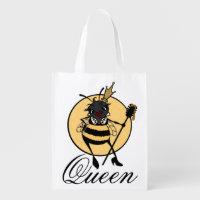 CUTE QUEEN BEE REUSABLE SHOPPING BAG