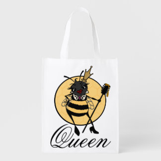 CUTE QUEEN BEE REUSABLE SHOPPING BAG