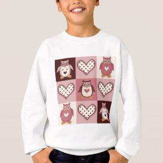 Cute Quilt Squares Retro Owls Valentine Tees, Gift Sweatshirt