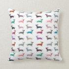 Cute Quirky Dachshund pattern Cushion