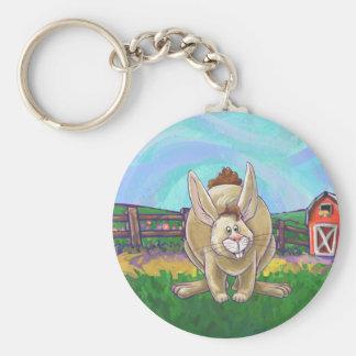 Cute Rabbit Animal Parade Basic Round Button Key Ring
