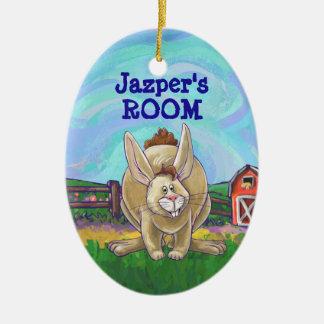 Cute Rabbit Animal Parade Christmas Ornament