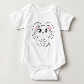 Cute rabbit baby bodysuit