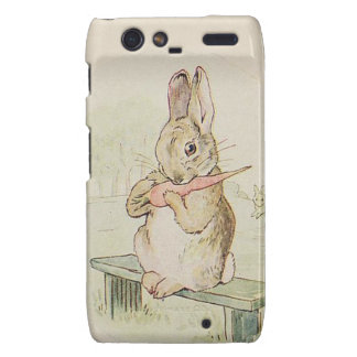 CUTE RABBIT WITH CARROT VINTAGE BUNNY MOTOROLA DROID RAZR COVER