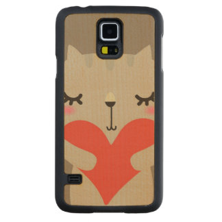 Cute rabbit with love maple galaxy s5 case