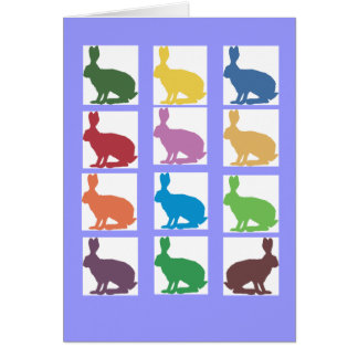 Cute Rabbits Pop Art Gifts Cards