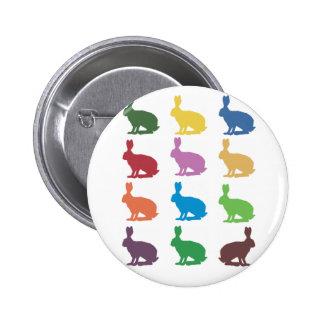 Cute Rabbits Pop Art Gifts Pin