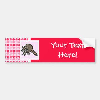 Cute Raccoon Car Bumper Sticker