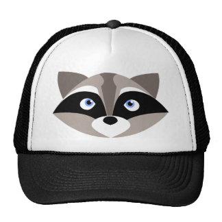 Cute Raccoon Face Cap