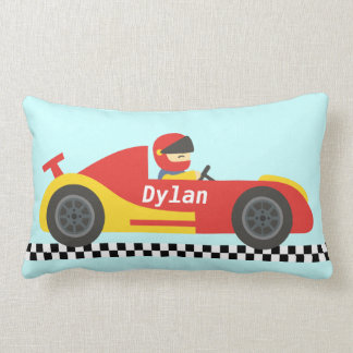 Cute Race Car For Boys Lumbar Cushion