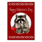 Cute Racoon Blowing Kisses for your Valentine Card