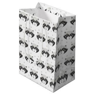Cute Racoon Pattern Medium Gift Bag