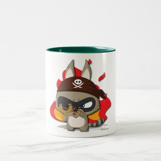 Cute Racoon Pirate Cup Funny Cartoon Slingshot Mug