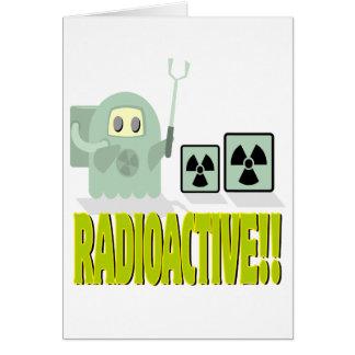 cute radioactive dude greeting card