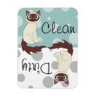 Cute Ragdoll Siamese Clean Dirty Dishwasher Magnet