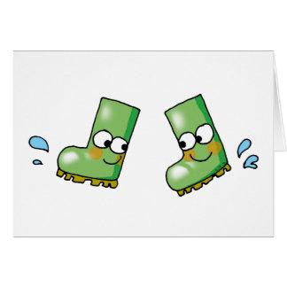 cute rain boots card